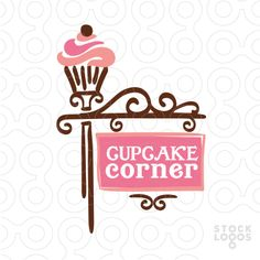 "Good idea for a part of FB page, have a ""cupcake corner"" that features everything Cupcakes Cupcake Logo, Cupcake Shops, Cupcake Bakery, Cupcakes, Logo Doce, Bakery Names, Dessert Logo, Bakery Logo Design, Bakery Business"