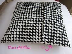 Easy pillow cover. Since Phil ate Julie's pillows, I owe her a couple new ones :)