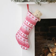 Fairisle Knitted Stocking