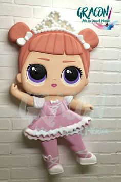 Wood Crafts, Diy And Crafts, Kids Party Decorations, Lol Dolls, Doll Patterns, Hello Kitty, Birthday, Disney, Decorated Notebooks