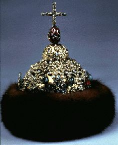 A lesserBolshevikCrown made of gold and precious stones and trimmed with fur