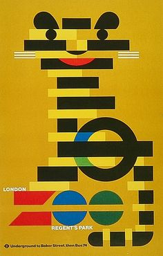 Zoo London Transport Poster
