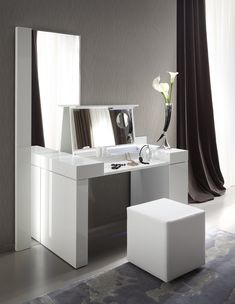 Modern White Dressing Table, Contemporary Dressing Tables, Dressing Table Mirror, Contemporary Bedroom, Contemporary Vanity, Ikea Vanity Table, Modern Vanity Table, Furniture Vanity, Modern Bedroom Furniture