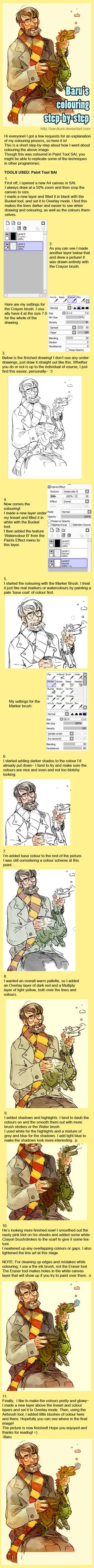 Colouring step by step by *Barukurii [dA]