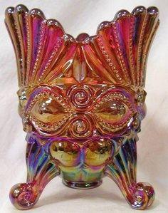 Ruby Red Carnival Glass Spooner Utencil Holder ~ Eyewinker Pattern by Mosser Glass, http://www.amazon.com/dp/B005YSQARU/ref=cm_sw_r_pi_dp_lSIrsb0JGVFSC