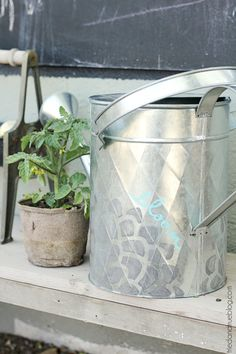 We can't wait to make this decorated spring watering can!