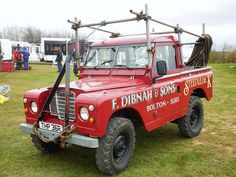 Land Rover 88 Serie III pickup publicity - Fred Dibnah