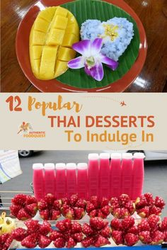 Thai dessert reflect Thai cuisine in the way certain ingredients are used notably rice, coconut and fruits. Thai desserts are known as Khanom in Thai or sweet snacks. We believe that eating Khanom is a great way to end a meal and smoothen the palate after a spicy Thai dish!