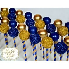 FIU themed cake pops for my awesome classmates! I'm one Proud Panther Prince Birthday Party, Prince Party, Sweet 16 Birthday, 16th Birthday, Royalty Baby Shower, Royal Baby Shower Theme, Baby Shower Cake Pops, Royal Blue Cake, Blue Cake Pops