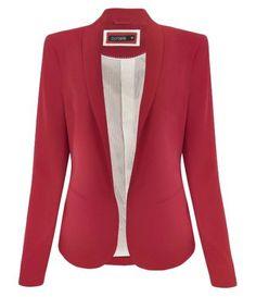 blazer feminino cereja