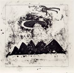 Squeaky Flies in the Mud 2015 lithograph on Japanese paper 60.0 x 60.0cm (c)David Lynch, Courtesy Item Editions