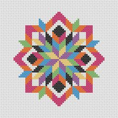 Cross Stitch PDF Pattern Quilt Block Easy Beginner by Stitcharific