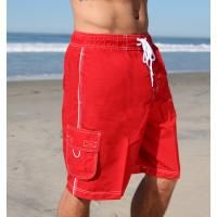 Pro Trunk in Red- Classic Boardshort with two side pockets and microsheild cargo pocket