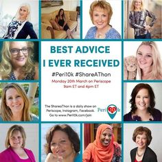 Monday Periscope Shareathon 9am EST AND 4pm EST  BEST ADVICE I EVER RECEIVED  Check out this amazing line-up:  9am EST: Katya Varbanova Sonja Durik Harris Laura Roman Ann Wenstrom Murphy Olga Dovnar Jeneen Yungwirth Sarah Wood  4pm EST: Cordelia Gaffar Jan More Laura Thompson Weigel Angela Mondor Julie JordanScott Cindy Cork