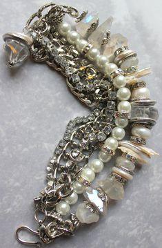 multi strand chunky charm bracelet charm bracelet by molliecarey, $58.39