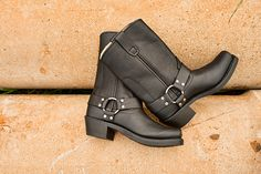 Durango Black Motorcycle Harness Boots  http://www.countryoutfitter.com/products/28343-womens-10-western-classic-harness-boots-harness-black
