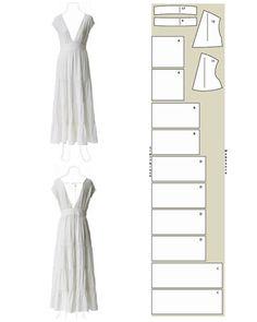 Hochzeitskleid Schnittzeichnung