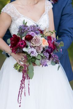 Stunning, colorful bridal bouquet #weddingbouquet #weddingflowers #7centerpieces