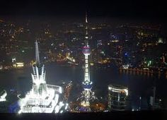 The Oriental Pearl Radio & TV Tower is a TV tower in Shanghai, China.