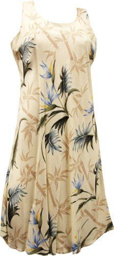 7268b8abe1 Paradise Found Womens Bamboo Paradise Short Tank Dress CREAM XL -- Visit  the image link