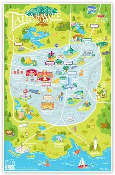 Tallahassee, Florida Area Maps   Tallahassee, Florida   Downtown ...