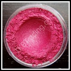Brilliant Glitter Red mica (eyeshadow) ~ TKBTrading.com has a huge selection of supplies to make your own mineral makeup, although you can use it just the way it comes without having to mix it with anything. They offer $1.50 samples and you get a lot. Many colors to choose from. I think I own every color!!! ;)