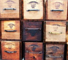 Wooden Boxes by Please Sir, via Flickr