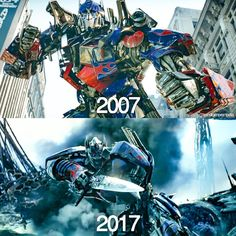 A lots changed in 10 years. Transformers Memes, Transformers Optimus Prime, Comic Collage, Nemesis Prime, Sailor Moon, Transformers Collection, Michael Bay, Last Knights, Thing 1