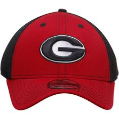d1977c0c3e1 New Era Georgia Bulldogs Red Black Team Front Neo 39THIRTY Flex Hat
