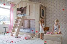 Het DutchWood Kids (t)huis stapelbed voor meisjes! Te lief!
