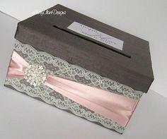 Items similar to Wedding Card Box Custom Envelope Card Holder Lace Blush Handmade Silk Card Box on Etsy Trendy Wedding, Diy Wedding, Wedding Favors, Wedding Invitations, Wedding Ideas, Lace Wedding, Luxury Wedding, Wedding Cake, Wedding Reception