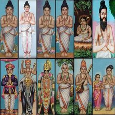 Alwar, twelve people born in the ippuvulak.   they appeared in South India. They passed by   the Tamil hymns 4000. they called Divya Prabandham the hundreds of thousands. They are considered to be equal to the Vedas.