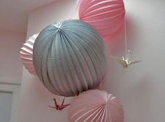 Boules en papier et origami