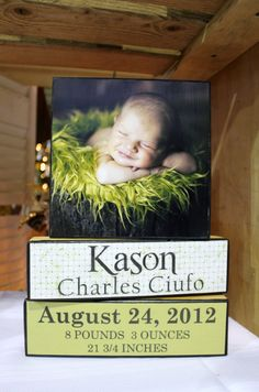 Personalized Wooden Photo Block Set by WallHanger on Etsy, $30.00