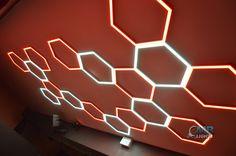 Hexa DMX light in night club Unique- Design by MB-Lights
