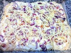 Langalló (házi kenyérlángos) | Szilvia Mária Kilecz receptje - Cookpad receptek Potato Salad, Pizza, Icing, Oatmeal, Potatoes, Breakfast, Ethnic Recipes, Food, The Oatmeal