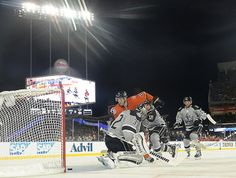 Ducks dominate at Dodger Stadium, shut out Kings in NHL outdoor game-LOS ANGELES – There was volleyball to the left of the rink, KISS in full makeup to the right. There were 54,099 fans, crowding a baseball stadium to watch an outdoor hockey game under the lights – in California, no less.