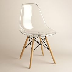 With a mid-century modern aesthetic and a sculptural look, our clear chairs have comfortable molded seats with flexible backs and rounded edges. >> #WorldMarket Home Office