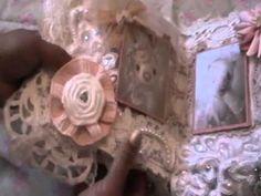 Lace Mini Album With Handmade Flowers & Photos By Marijke Van Ooijen - YouTube