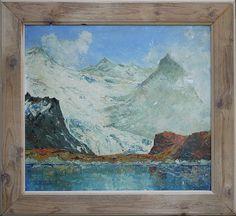 Marmolada e Lago Fedaia -  Marmolada and Fedaia Lake, Dolomites -  живопись доломиты