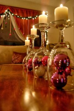 Wine Glass Christmas Decorations