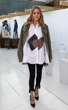 Olivia Palermo attends the Markus Lupfer presentation during the London Fashion Week February 2017 collections on February 18 2017 in London England