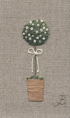 Jo Butcher, Embroidery Artist - Rose Topiary
