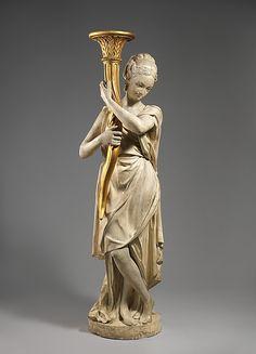 Estilo de Augustin Pajou (francesa, París 1730-1809 París). Medio: Yeso, madera…