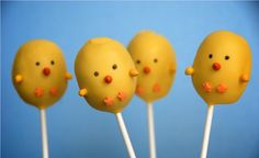 Easter cake pops. I can't really be bothered, but they are adorable.