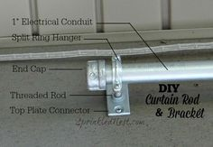 Make your own DIY Curtain Rod and Bracket in these easy, and affordable, steps!