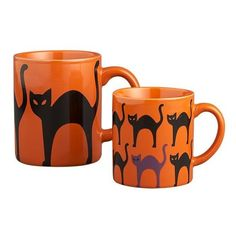 Scaredy Cat Mugs in New Dining & Entertaining | Crate ($3.95) ❤ liked on Polyvore