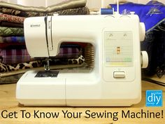 Let's get sewing! Getting To Know Your Sewing Machine Handmade Home, Getting To Know You, Knowing You, Let It Be, Sewing, Check, Diy, Dressmaking, Bricolage