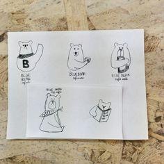 キャラクターデザイン。カフェのマークにも。店舗デザイン;名古屋 スーパーボギー http://www.bogey.co.jp