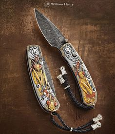'Mantis' hand-engraved pocketknife with gold inlays by Wil… | Flickr